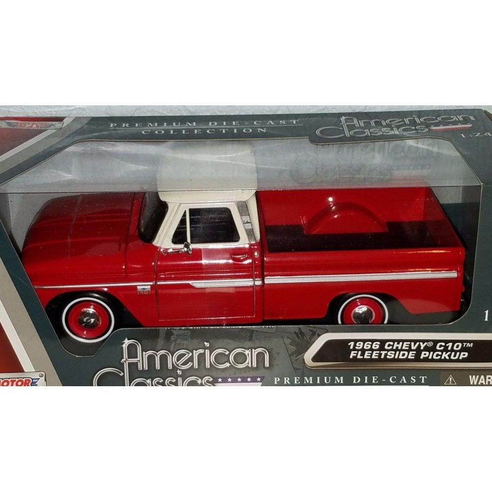 Motor Max American Classics 1966 Chevy C10 Fleetside Pickup Red Amp